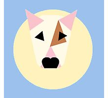 Bull Terrier Simplified Vector Spot Pattern Photographic Print
