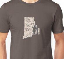 Rhode Island Vintage Picture Map Unisex T-Shirt
