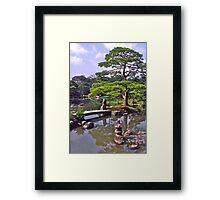 Moon viewing, Katsura Imperial Palace, Kyoto, Japan.  Framed Print