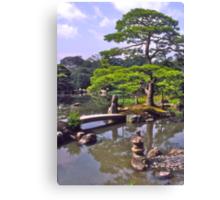 Moon viewing, Katsura Imperial Palace, Kyoto, Japan.  Canvas Print
