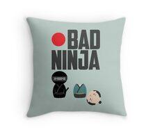 Bad Ninja Throw Pillow