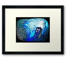 TARDIS - Lost in space Framed Print