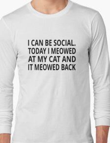 I Can Be Social Long Sleeve T-Shirt