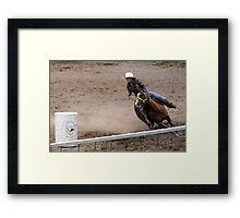 Leaning into the corner Framed Print