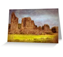 How the Mighty Fall - Castle Ruins near Cork, Ireland Greeting Card