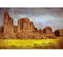 How the Mighty Fall - Castle Ruins near Cork, Ireland Photographic Print