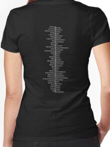 Bible Spine Women's Fitted V-Neck T-Shirt