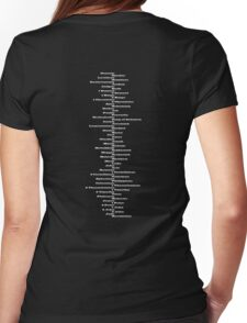 Bible Spine Womens Fitted T-Shirt