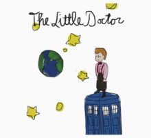The Little Doctor (open background) Kids Tee