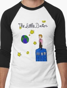 The Little Doctor (open background) Men's Baseball ¾ T-Shirt