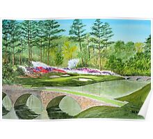 Augusta National Golf Course Hole 12 Poster