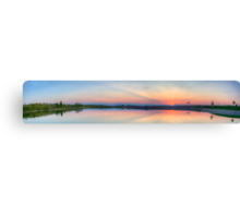 Rocky Mountain Sunset Series - Pink & Blue Mountains Panorama Canvas Print