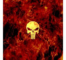 The Punisher Flame Photographic Print