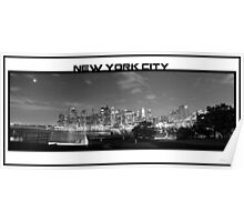 Brooklyn Overlooking the CIty Skyline Poster