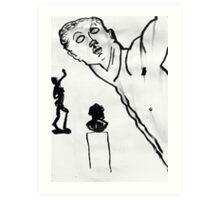 3 sculptures Art Print