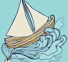 Let your imagination flow/Let your dreams set sail by Chloe L.