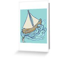Let your imagination flow/Let your dreams set sail Greeting Card