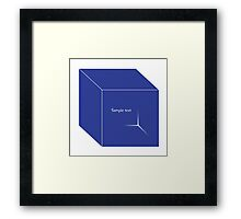 cube illustration Framed Print