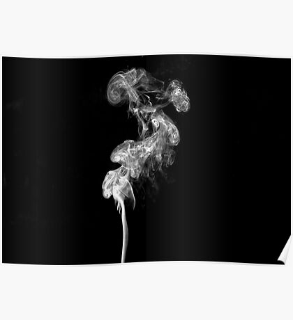 Black and white smoke Poster