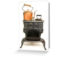 Cast iron Stove Greeting Card