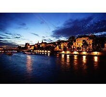 Paris, the Louvre, the Seine Photographic Print