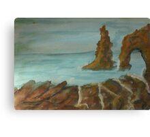 A natural rock formation, watercolor Canvas Print