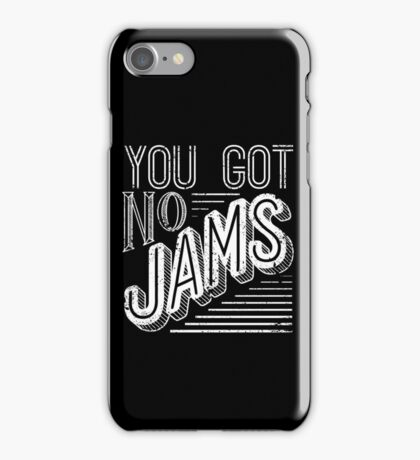 You Got No Jams - BTS Distressed Typography (White) iPhone Case/Skin