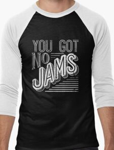 You Got No Jams - BTS Distressed Typography (White) Men's Baseball ¾ T-Shirt