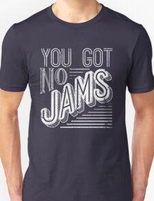 You Got No Jams - BTS Distressed Typography (White) Unisex T-Shirt