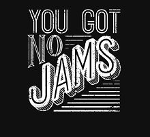 You Got No Jams - BTS Distressed Typography (White) Womens Fitted T-Shirt