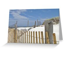 Sand dune fences Greeting Card