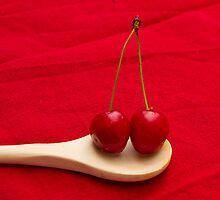 2 cherries by Carine LUTT