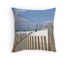 Sand dune fences Throw Pillow