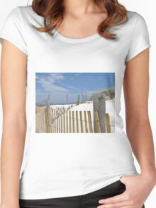Sand dune fences Women's Fitted Scoop T-Shirt