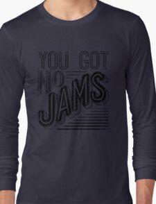 You Got No Jams - BTS Distressed Typography (Black) Long Sleeve T-Shirt