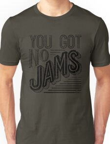 You Got No Jams - BTS Distressed Typography (Black) Unisex T-Shirt