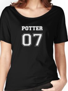 Potter Quidditch Jersey Number Women's Relaxed Fit T-Shirt