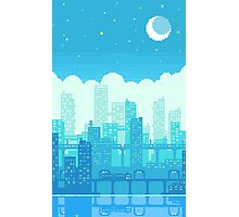 Blue Moon City Photographic Print