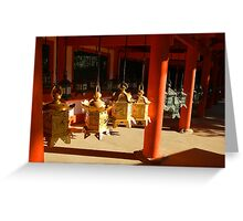 Golden Lanterns  Greeting Card