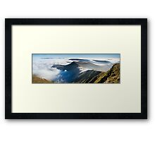 Cribyn, from Pen y Fan, Brecon Beacons National Park, Wales. Framed Print