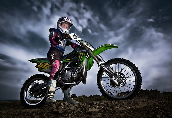 Motocross Miss by Janet Rogerson