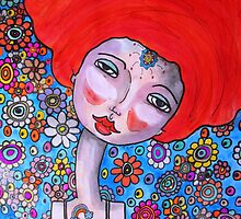 Mixed Media Portrait  by Tricia Anne Michael