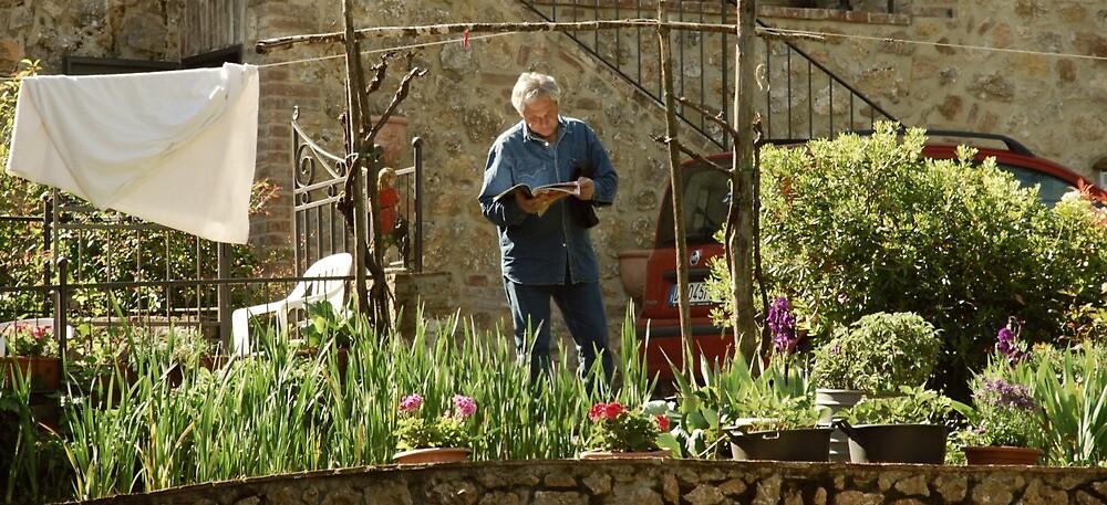 Within a Tuscan Garden-Stigliano, Italy by Deborah Downes
