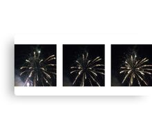 Fireworks in 3 Parts Canvas Print