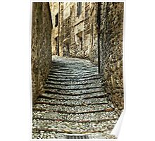 Stone Steps-Spoleto, Italy Poster