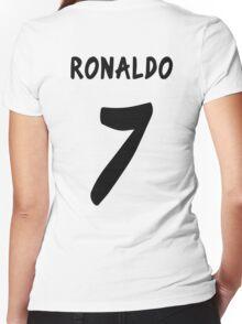 Ronaldo 2013/2014 Women's Fitted V-Neck T-Shirt