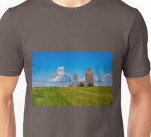 Grain Elevators near Lothair, Montana Unisex T-Shirt