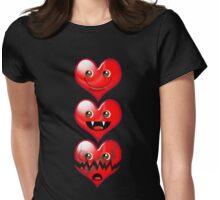 HEART X3 Womens Fitted T-Shirt
