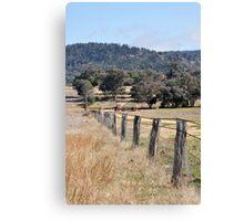 A country Farm Fence Canvas Print