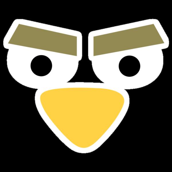 Minimalist Angry Birds - Yellow Bird by RiskGambits